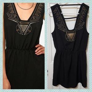 Ecote Embellished Little Black Dress